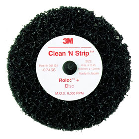 3M Scotch-Brite Roloc + Clean & Strip Disc Black - 07466