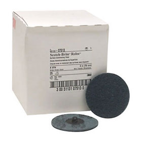 "3M Scotch-Brite Roloc Surface Conditioning Disc Blue, 3"", Very Fine, 25/box - 07513"