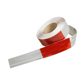 3M Flexible Prismatic Conspicuity Markings Red/White, 2in x 12in cuts, 50yd - 22497