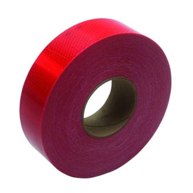 """3M Flexible Prismatic Conspicuity Marking Series 963-72 DOT Red, 2"""" x 50 yard - 22500"""