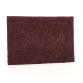 "3M Scotch-Brite General Purpose Hand Pad Maroon, 6"" x 9"", 3 pads/pack - 37447"