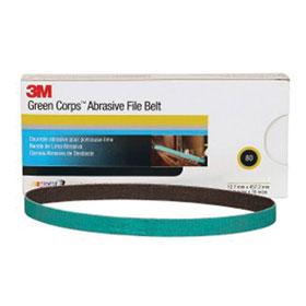 "3M Green Corps 1/2"" x 18"" Abrasive File Belts"
