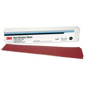 "3M Red Abrasive 2-3/4"" x 16-1/2"" Hookit Sheets"