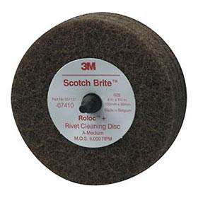 """3M Scotch-Brite Rivet Cleaning Disc, 4"""" x 1 1/4"""" - 07410"""