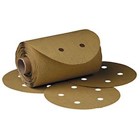 "3M Stikit Gold Disc Roll D/F, 6"", P80A, 125 discs/roll - 01643"