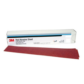 3M Red Abrasive Stikit Sheets