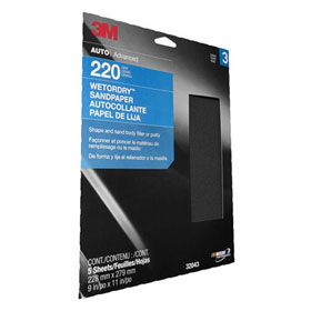 "3M Wetordry Sheet, 9"" x 11"", 5-Pack"