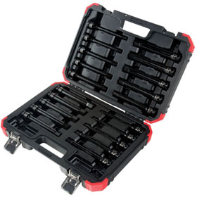 "Sunex Tools 20 Pc 1/2"" Dr Impact Hex Driver Master Set, 6"" Long - 2637L"