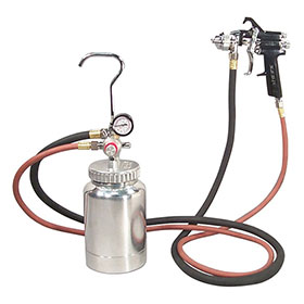 Astro Pneumatic 2-Quart Pressure Feed Paint Gun System with 1.2mm Tip - 2PG7S