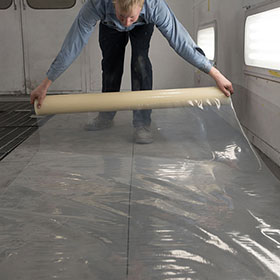 Self-Adhering Protective Booth Floor Film