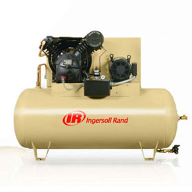 Ingersoll Rand 10HP 120 Gallon Horizontal Air Compressor - 2545E10V