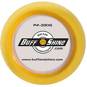 """Buff & Shine 3"""" Yellow Foam Grip Buffing Pad 2-Pak - 330G"""