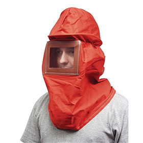 AES Canvas Sand Blast Hood w/ Hard Hat - 1004