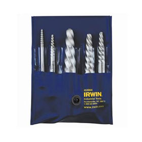 Irwin 5 Pc. Spiral Flute Screw Extractor Set - 53535