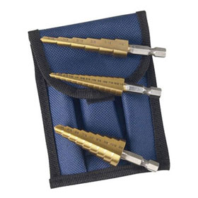 Astro Pneumatic Titanium Step Drill Bit Set - 9445