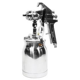 Astro Pneumatic 1.7mm Nozzle Spray Gun with Silver Handle & Cup - AS8S