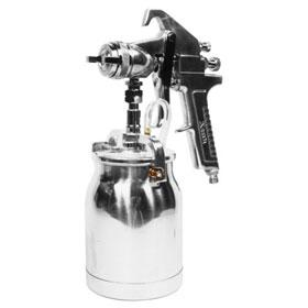 Astro Pneumatic Spray Gun with Cup - Silver Handle - 1.7mm Nozzle - AS8S