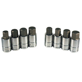 8 Pc. Large Size SAE/Metric Hex Bit Socket Set - 13788