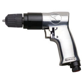 "3/8"" Reversible Air Drill With Keyless Chuck - 2143"