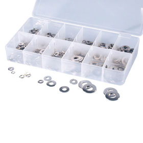 ATD Tools 350 Pc. Stainless Lock and Flat Washer Assortment - 360