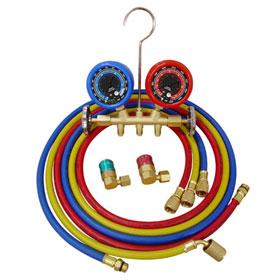 R134a Economy Brass Manifold Gauge Set - 3693