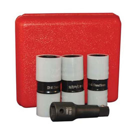 "ATD Tools 4 Pc. 1/2"" Dr. Protective Wheel Nut Flip Impact Socket Set - 4354"