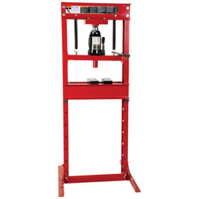 ATD Tools 20-Ton Hydraulic Shop Press with Bottle Jack - 7454