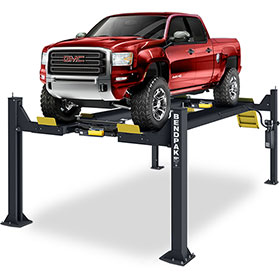 BendPak 14,000 Lb. Open-Front Extended Alignment Lift w/ Turnplates and Slip Plates - HDSO14AX
