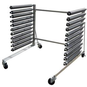 Champ Aluminum 10-Slot Mobile Windshield Rack- 6265