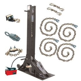 Champ Olympian 10-Ton Pulling Post Starter Kit with 4007 Post w/o Floor Pots