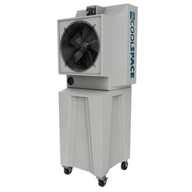 "Cool-Space Glacier 18"" Portable Evaporative Cooler with Tall Base - CS5-18-VD-TB2"
