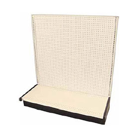 "Base w/Peg Board Backing, Beige Finish Gondola w/Back, 54"" High x 19"" Base - 80140"