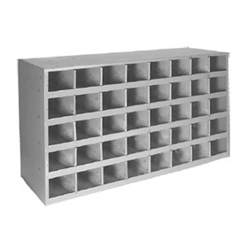 "40 Hole Compartment Bin, Gray Finish, 4"" x 4"" Opening Size - 80341"