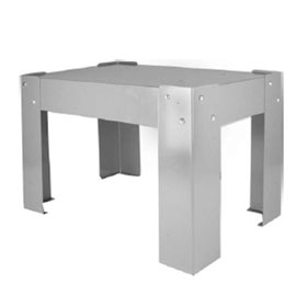 """Disco Automotive 15"""" Cabinet Stand Base (for 80320 Sliders), Gray Finish - 80354"""