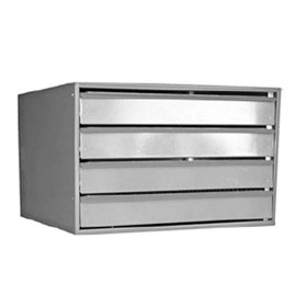 "4-Drawer Large Cabinet, Gray, 23-1/2"" x 22"" x 15"" - 80360"