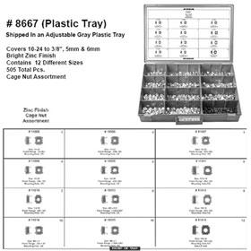 Disco Automotive Cage Nut Assortment, Zinc Finish - 8667