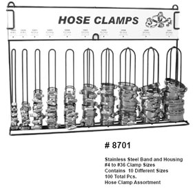 Disco Automotive Hardware Hose Clamp Assortment, 100 Pcs. - 8701