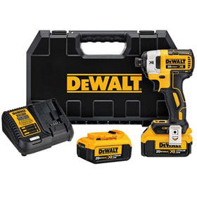 "DeWalt 20V MAX XR 1/4"" 3-Speed Impact Driver Kit (4.0AH) - DCF887M2"