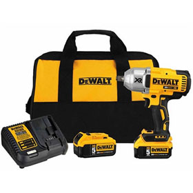 "DeWalt 20V, 1/2"" HT Impact Wrench Kit, Hog Ring - DCF899HP2"