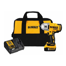 "DeWalt 20V MAX XR HT 1/2"" Impact Wrench with Detent Pin Anvil Kit (5.0AH) - DCF899P1"