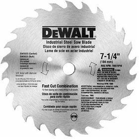 DeWalt 7-1/4 in. 68-Tooth Steel Circular Saw Blade - DW3329