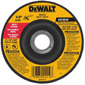 DeWalt High Performance Metal Grinding Wheels