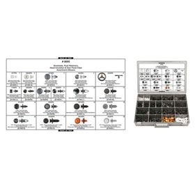 Disco Automotive Grommets, Push Retainers, Hood Insulation & Door Panel Clips Assortment (Nissan) - 8695