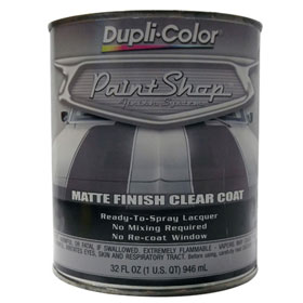 Dupli-Color Paint Shop Finishing System Clear Coat Matte Finish - BSP307