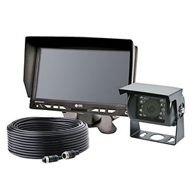 "ECCO Camera Kit: Gemineye, 7.0"" LCD Color System, 4 Pin, Expandable, 12-24VDC - K7000B"