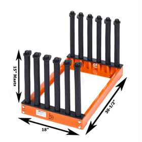 "Equalizer® Burco® 5-Slot Redi Rack™, 15"" Masts - BS1047"