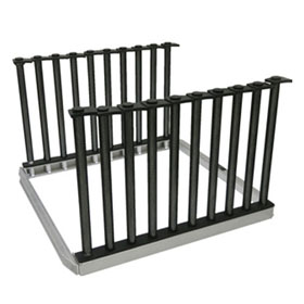 Equalizer® Lo-Rider™ 5-Slot Heavy Duty Folding Glass Rack - NSE825