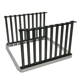 Equalizer® Lo-Rider™ 9-Slot Heavy Duty Folding Glass Rack - NSE826