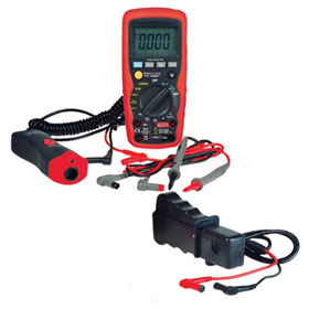 ES Premium Digital Multimeter w/ Thermometer Adapter - 597IR