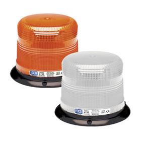"ECCO Strobe Beacon Light, Low Profile, 3-Bolt/1"" Pipe Mount, 12-24 VDC"